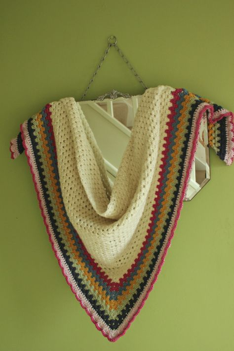 Really Easy Crochet Shawl: A Simple Granny Triangle Pattern.