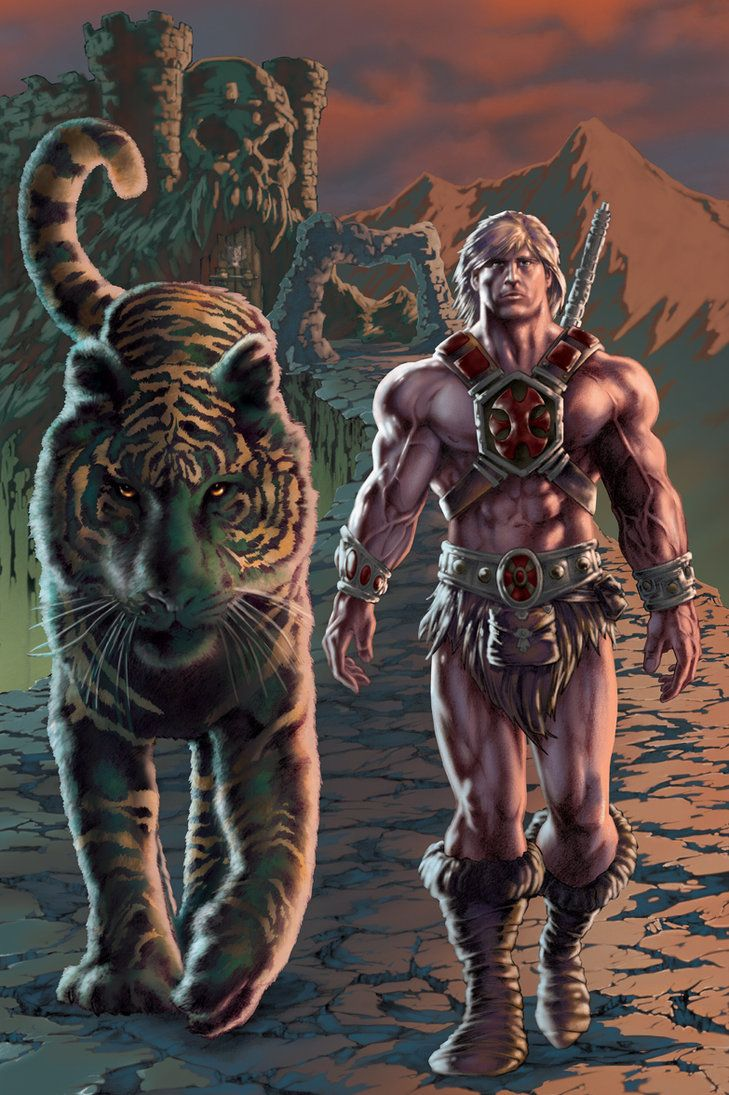 He Man And Battle Cat Colored By Patc 14 On Deviantart Old
