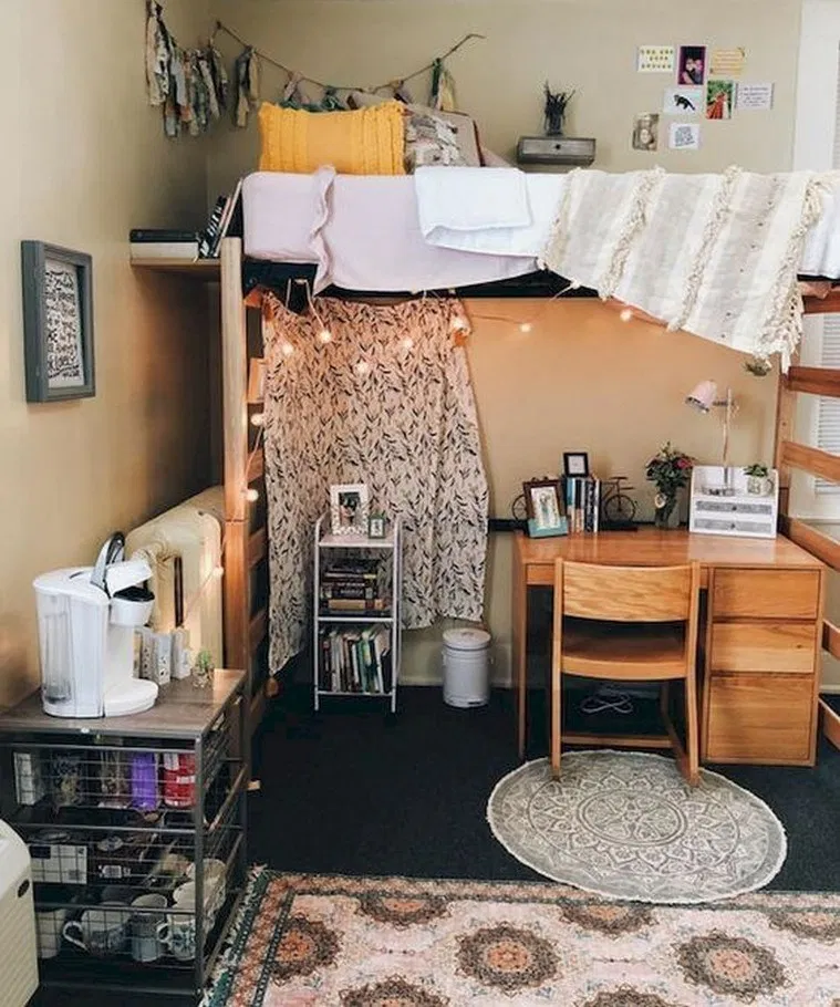 20 Upgrading Your Dorm Room Design for Better Sleep Quality » helpwritingessays.net #collegedormroomideas