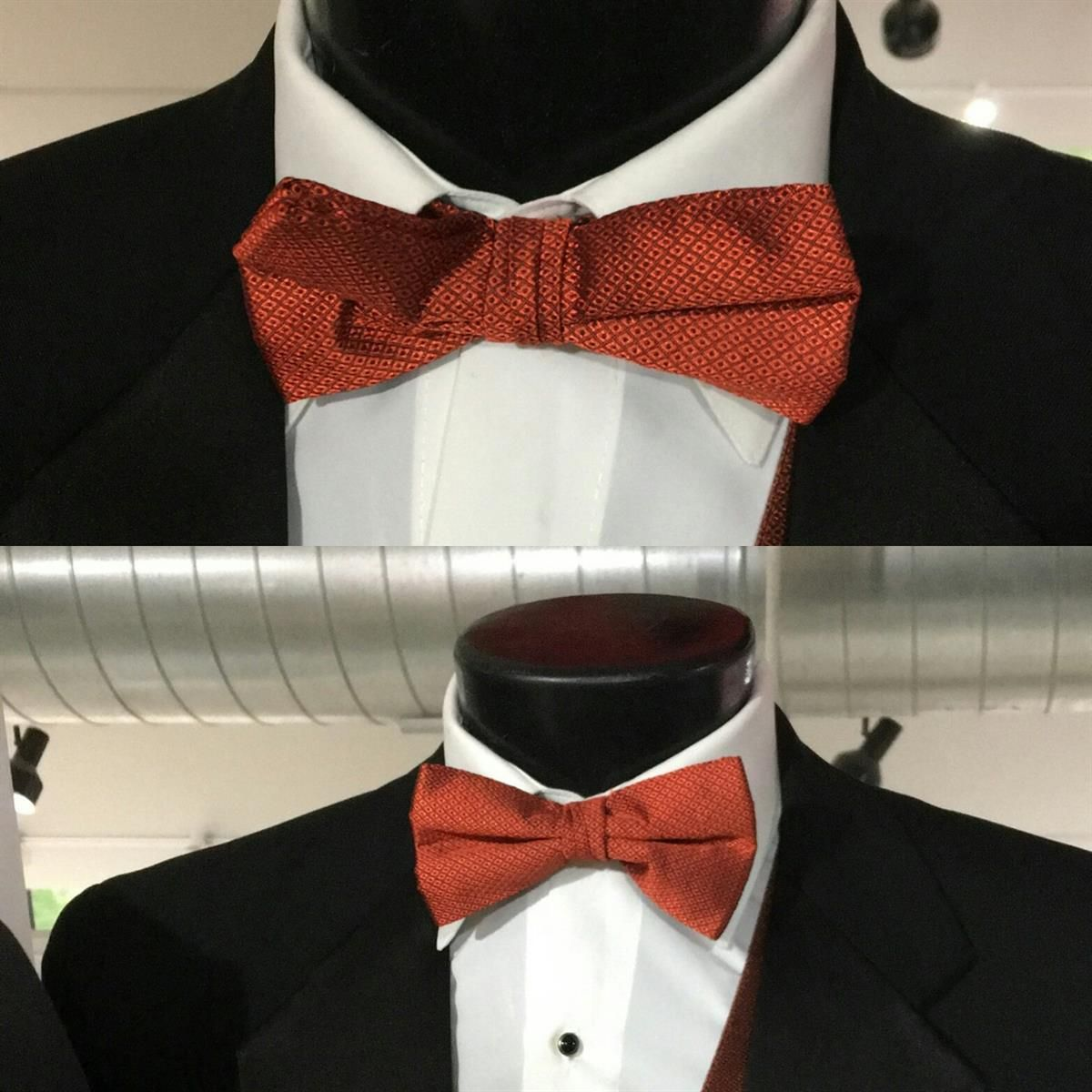34fb7b0764ed Droopy bowtie? It's on upside down! Flip it over for a perfect bowtie look!  #tuxedotiptuesday #duboisfw