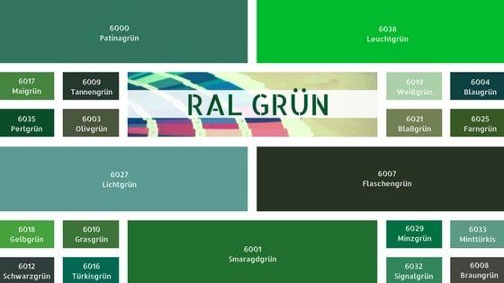 Wandfarbe Ral ral grün farbkarte ral farben grün ral grüntöne wandfarbe grün