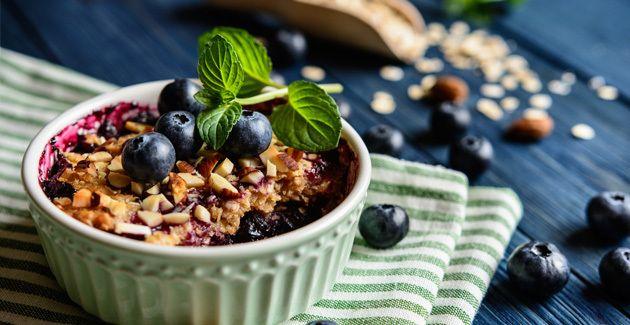 Dessert tip mini-crumbles van bosvruchten nagerecht Pinterest - gesunde küche zum abnehmen