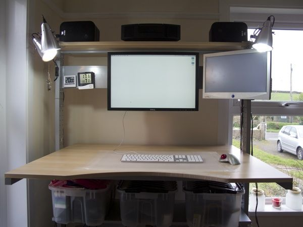 Ikea jerker stand up workstation photos pre relocation