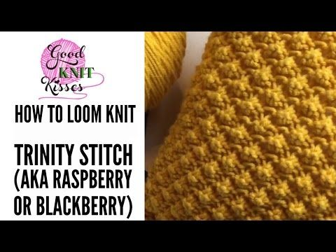 How To Loom Knit The Trinity Stitch And Pebble Pop Knit Pillow Loom
