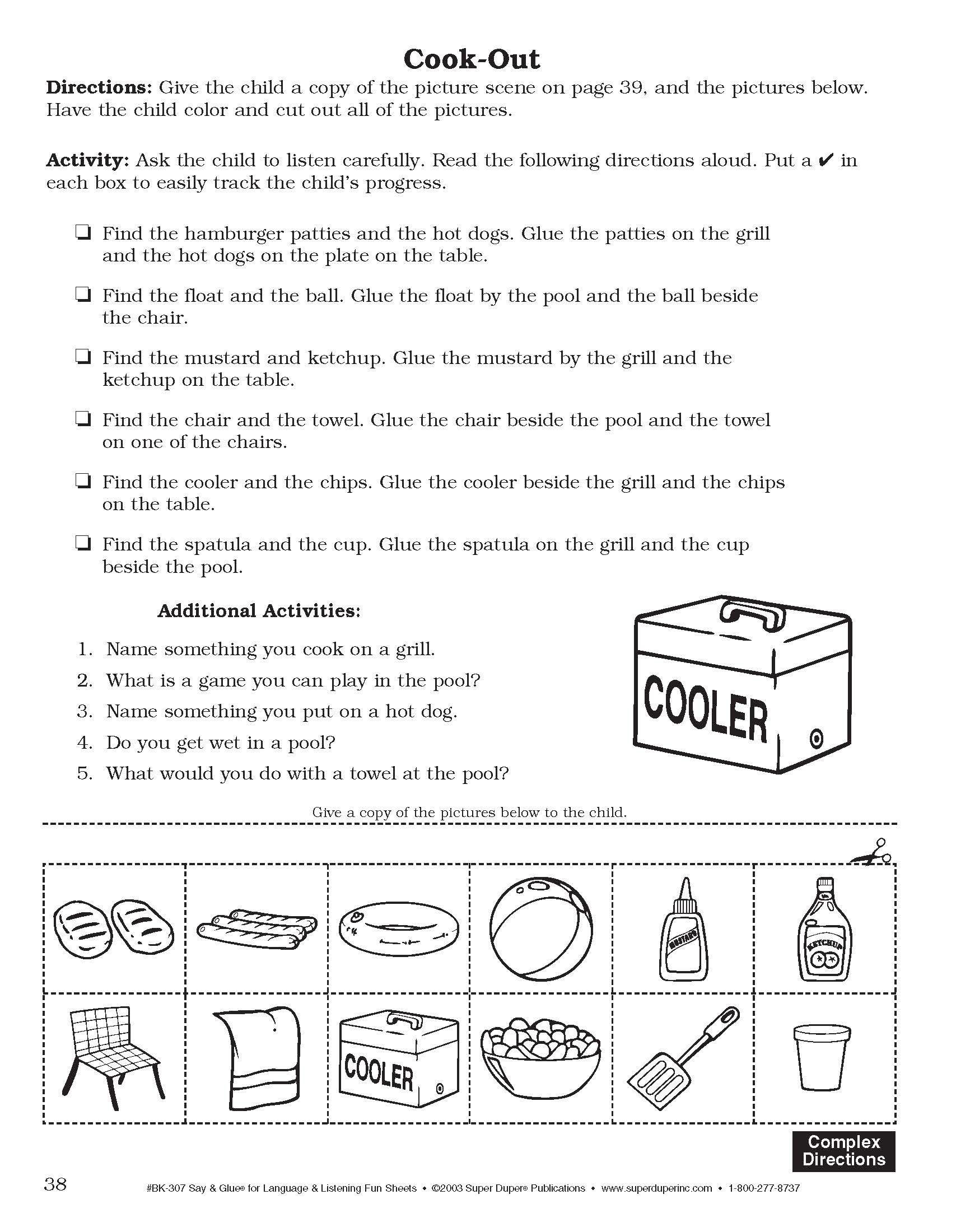 Complex Directions Fun Sheet
