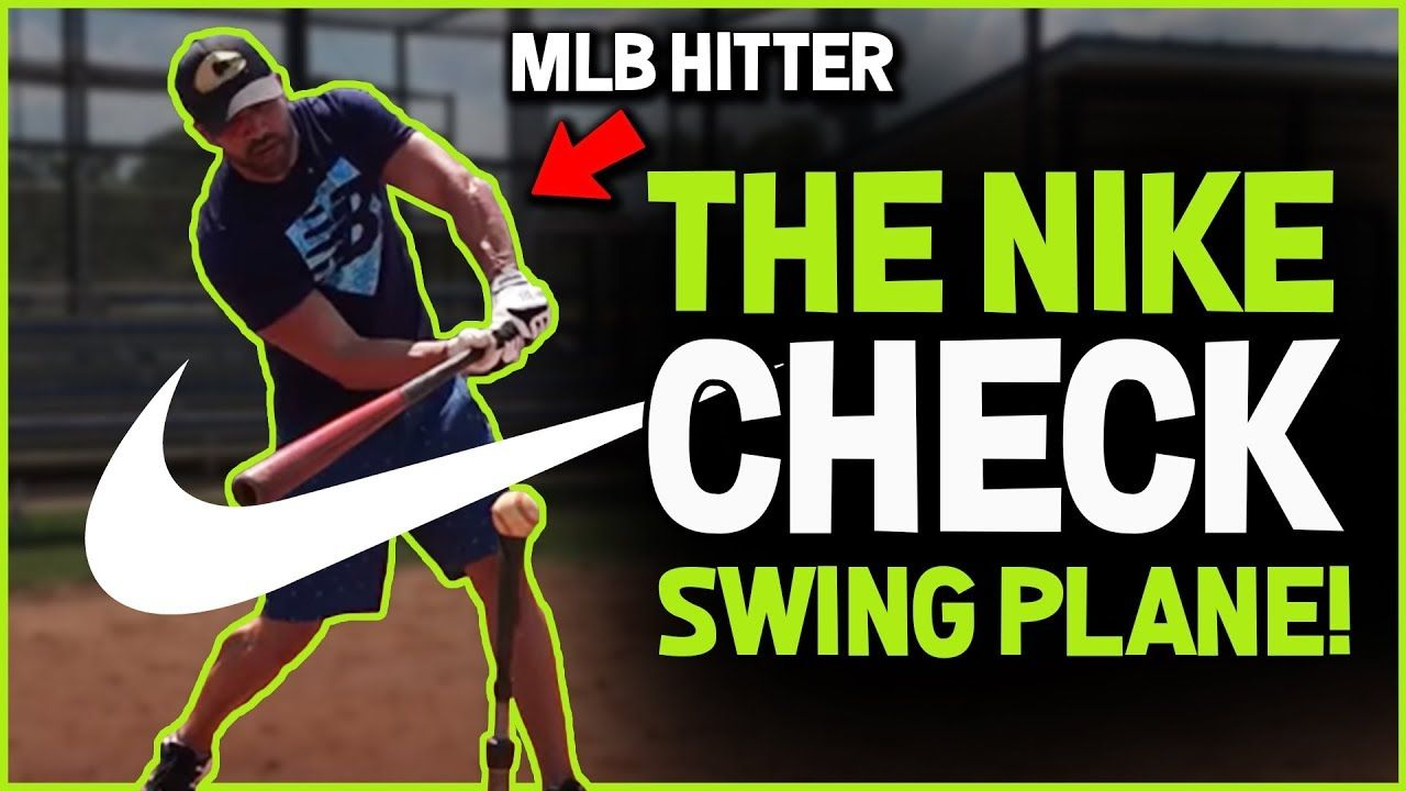 THE NIKE CHECK SWING PLANE that pro hitters use and you can too! [Baseball