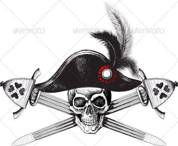 Pirate Symbol Of A Skull In The Captains Hat Pirate Symbols