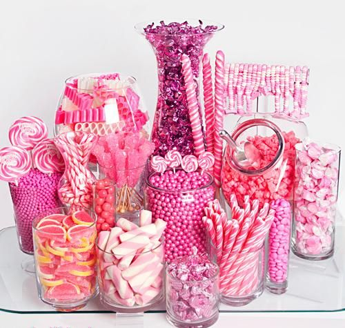 Candy jars for candy / sweets buffet