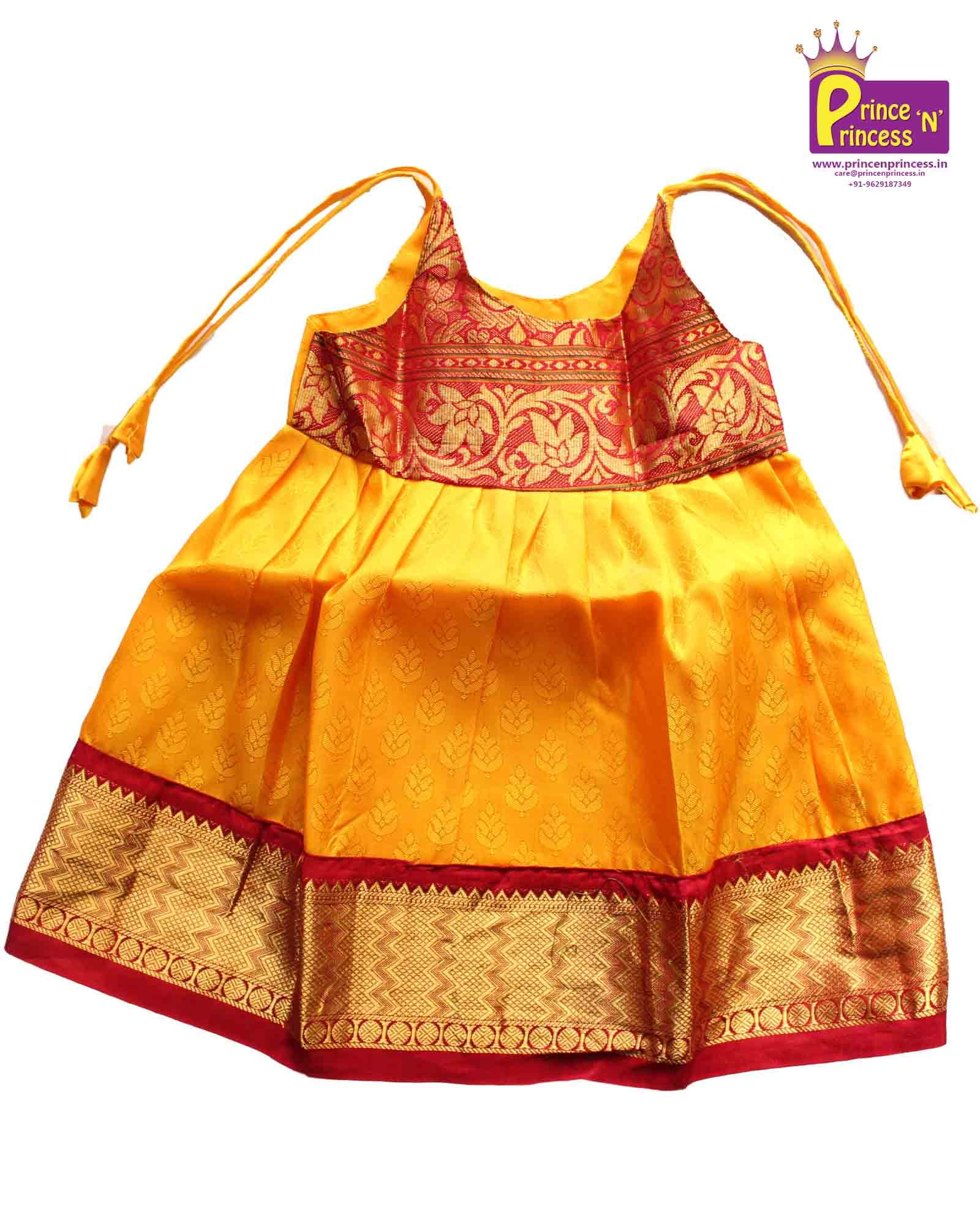 2d92e8e999cc1d New born Pure Silk frock ..  pattu  langa  baby  girl  online  frock   naming  ceremony  pavadai  pavdai  traditional  ethnic