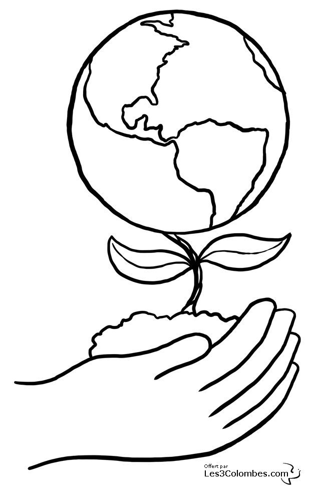 Earth Day is April 22 Free colour clipart, printables, pages and ecards