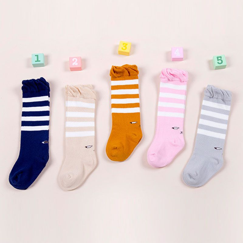 9e7172a36 Nice Cartoon Ears Fox Owl Bear Rabbit Children Socks Baby Boy Stripe Knee  High Socks Cotton Toddler Kids Boy Girl Socks Leg Warmers -  4.68 - Buy it  Now!
