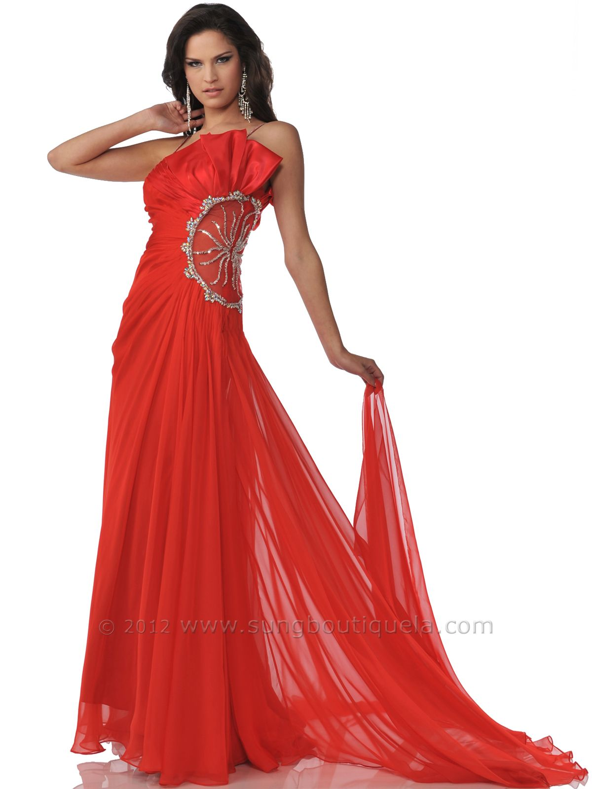 1000  images about Red Evening Dresses on Pinterest | Red ...