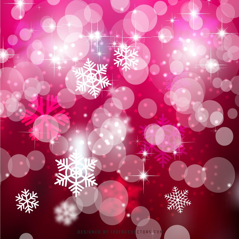 Ruby Pink Bokeh Christmas Lights Background Template in 2019