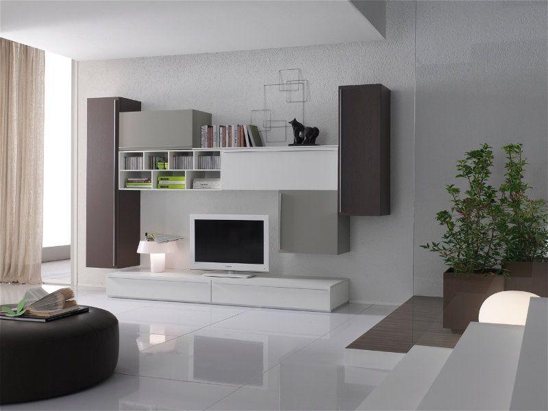 Composizioni Soggiorno Design ~ Composizione soggiorno con basi a cassetti porta televisione ed