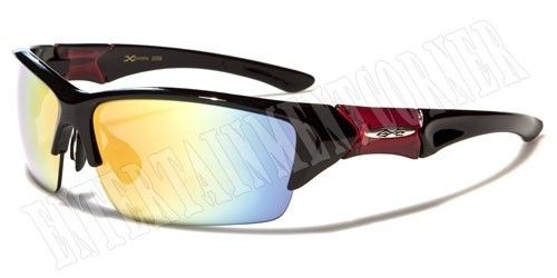 951cb98d19 X-LOOP SUNGLASSES SPORT WRAP MENS WOMENS BASEBALL RUNNING GOLF BLACK RED