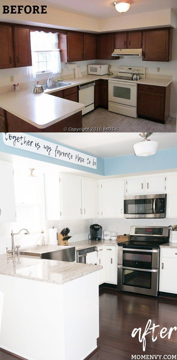 Modern Farmhouse Kitchen Remodel. White Kitchen Remodel. Easy Kitchen  Remodel. DIY Kitchen Remodel With Before And After Pictures. Including  Kitcheu2026