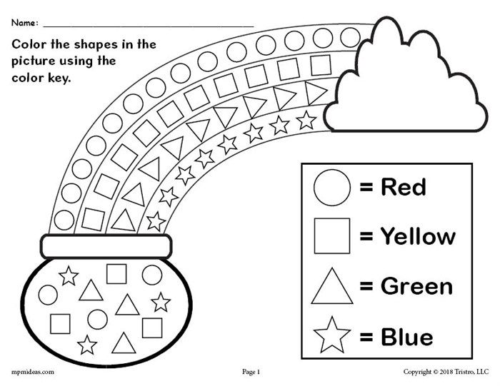 FREE Printable St. Patrick's Day Shapes Coloring Worksheet ...
