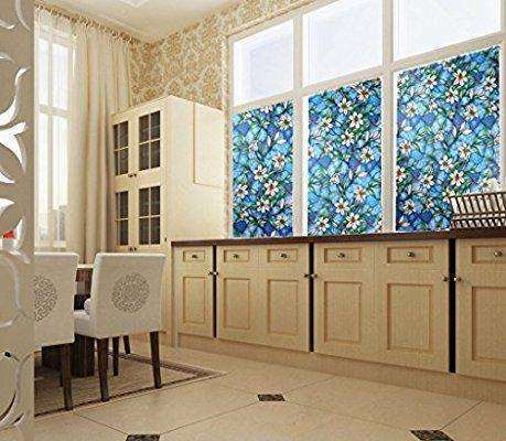bofeifs Decorative Privacy Window Film Frosted Window Film Stained
