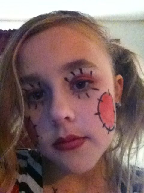 Super Cute Evil Rag Doll Costume Diy Halloween Costume Makeup