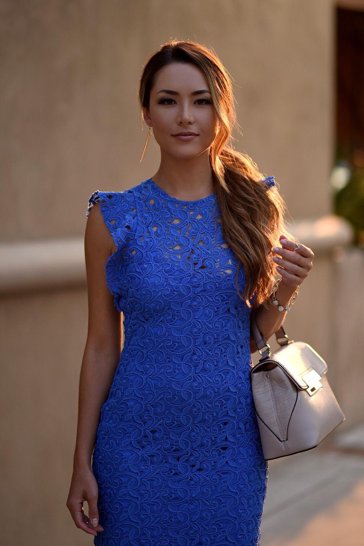 Blue Lace Zara Dress - Hapa Time | My Style | Pinterest