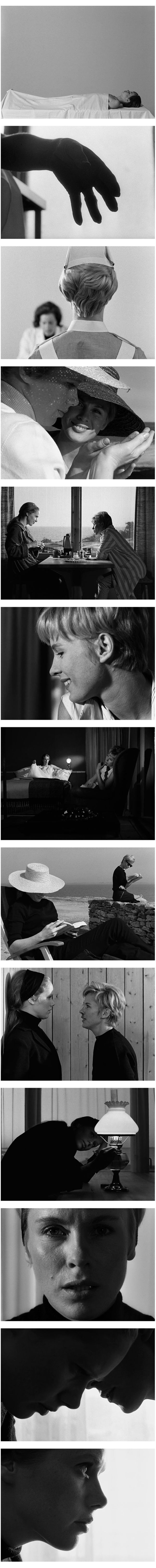 Persona (1966). Directed by Ingmar Bergman. Cinematography by Sven Nykvist.