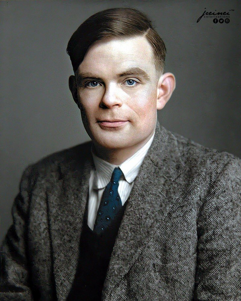 History In Color On Instagram Alan Turing English Mathematician
