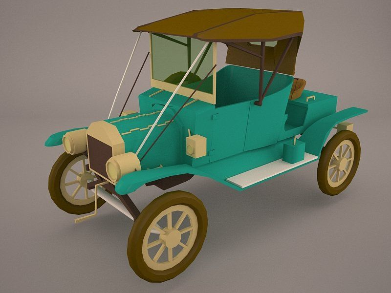 Royalty Free Ford Model T 3d Model By Kongurey Available Formats