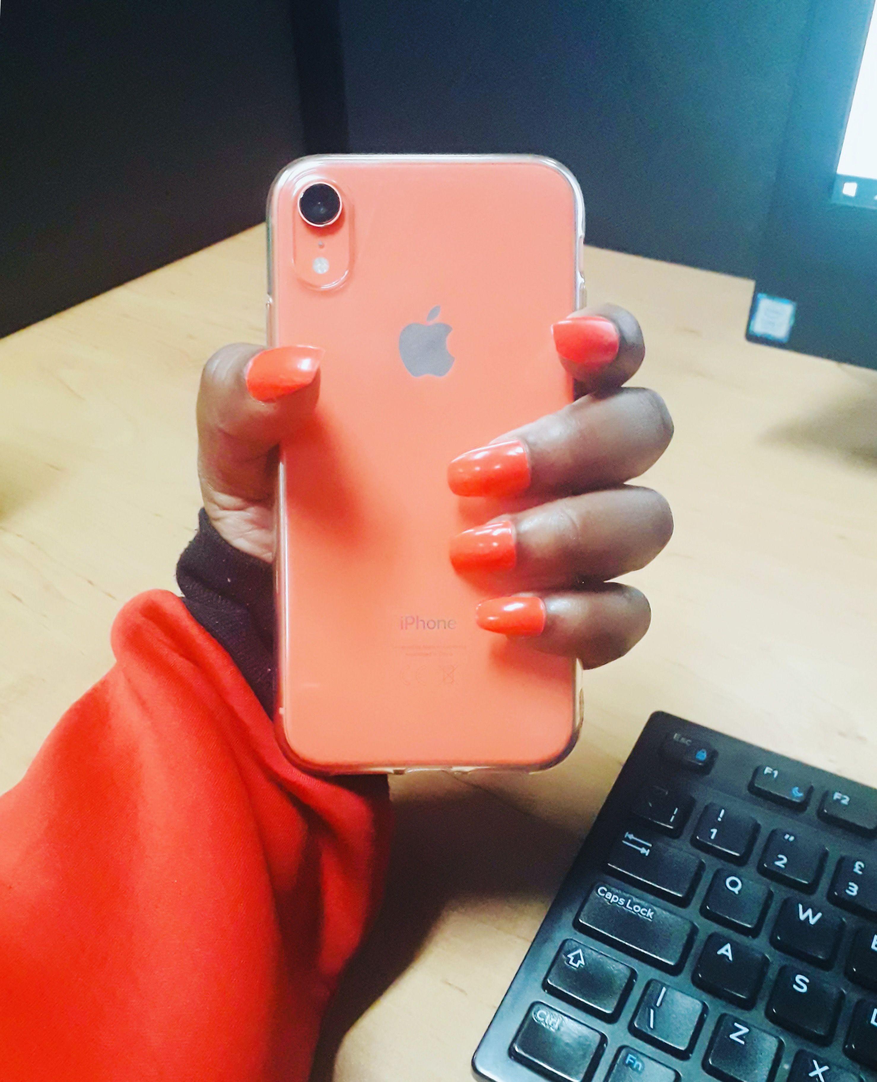 IPhone xr xr IPhonexr coral Coralnails iphonexrcoral