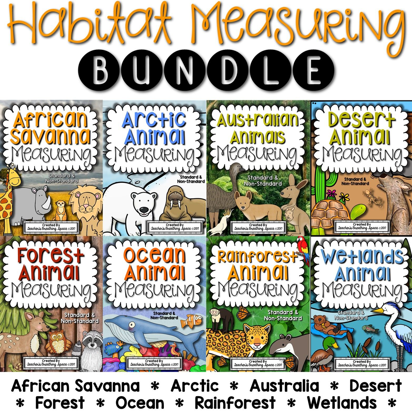 Habitat Measuring Bundle Includes Measuring Books And