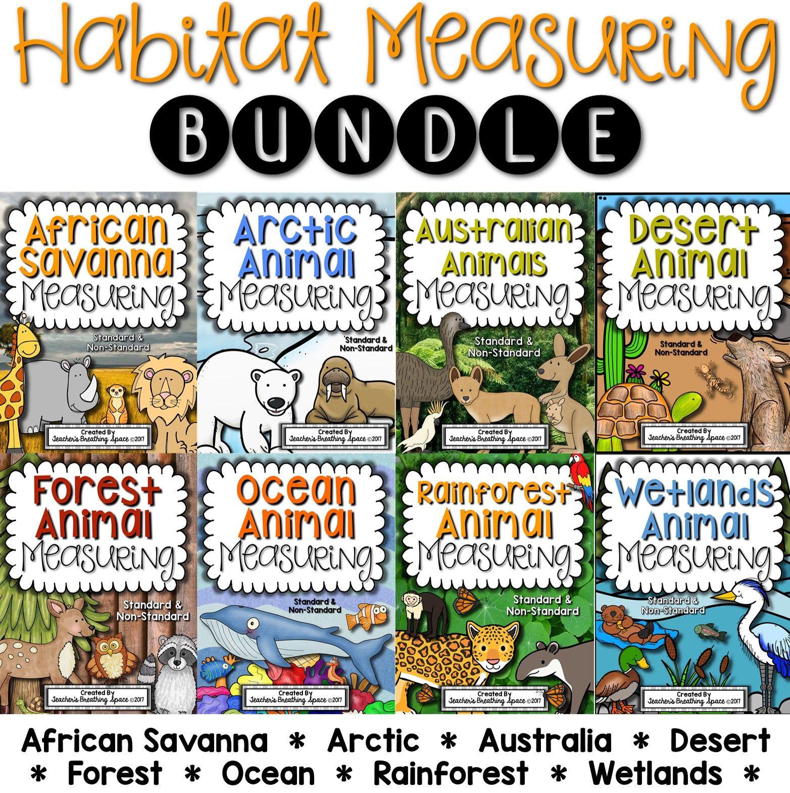 Habitat Measuring Bundle Includes Measuring Books And