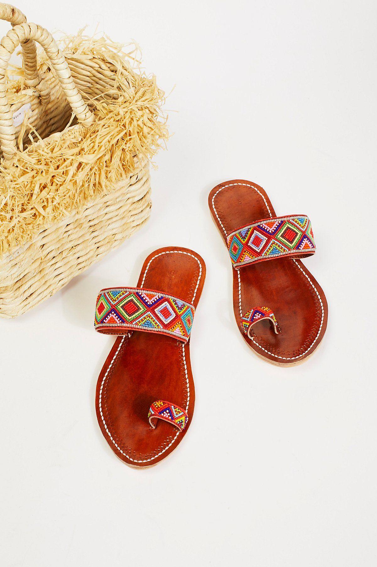 f1f2afcc11b Santorini Beaded Sandal. Santorini Beaded Sandal Beaded Shoes
