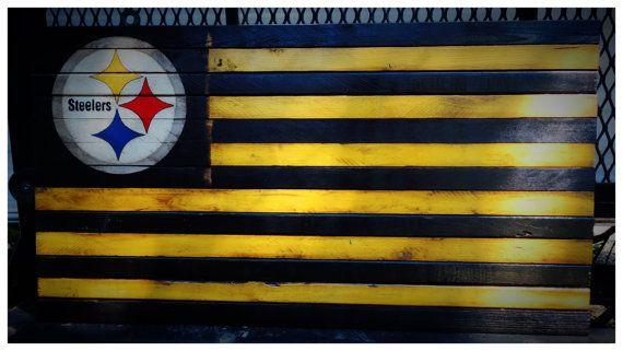 9edbb1584 Pittsburgh Steelers Flag Pittsburgh Steelers by AmericanFlagShop ...