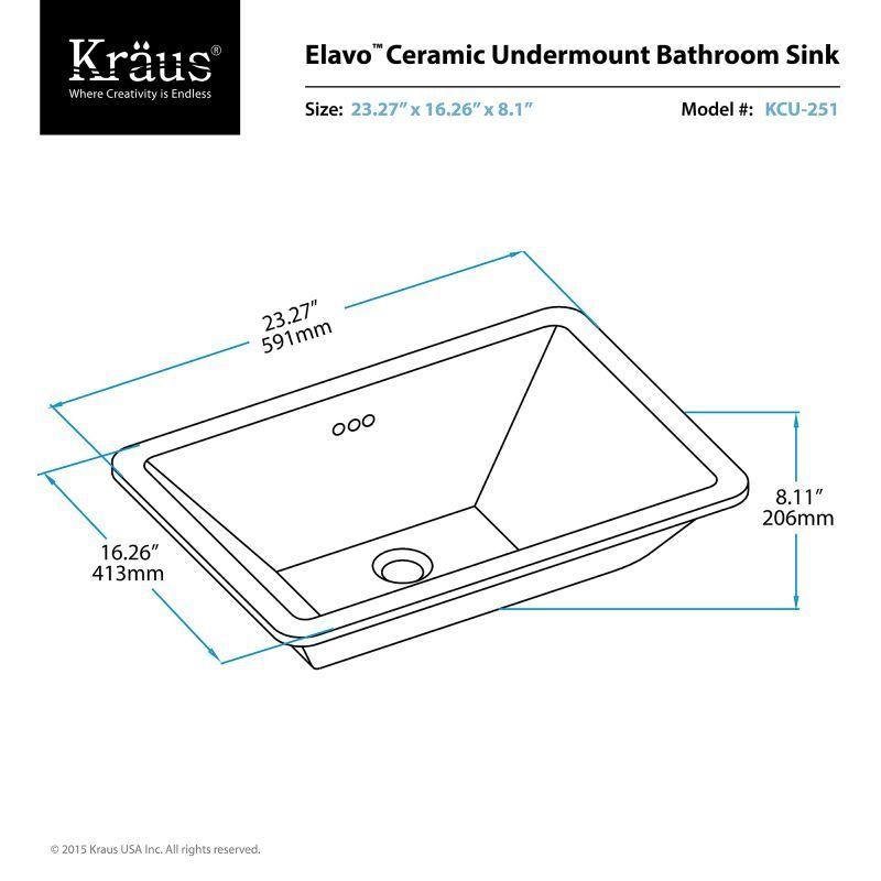 Kraus Kcu 251 Build Com Kraus Ceramic Bathroom Sink Bathroom Sink