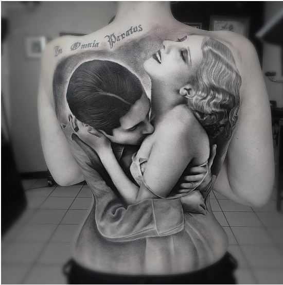 Realistic Masterpiece from Tattoo Artists! #kadınlariçindövmeler