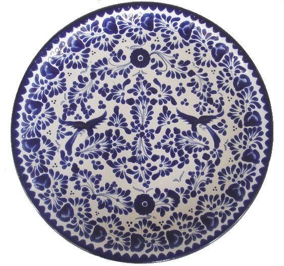 Platos en cer mica de talavera poblana otras ventas - Platos de ceramica ...