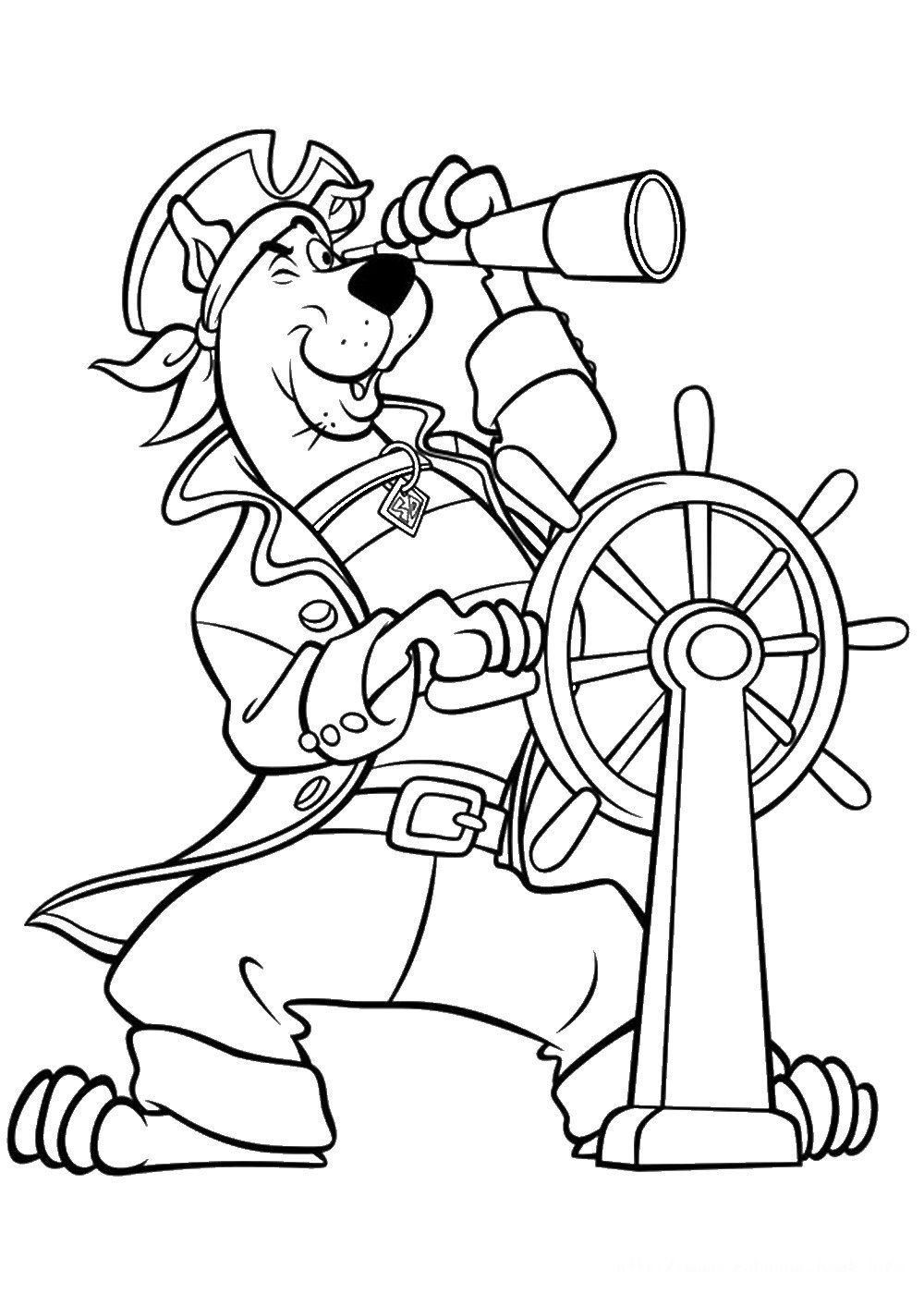 scooby colouring page