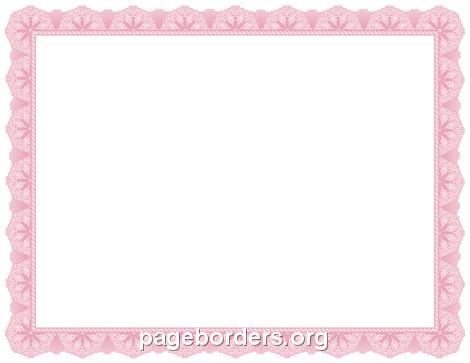Pink Certificate Border Certificate Border Clip Art Border Templates