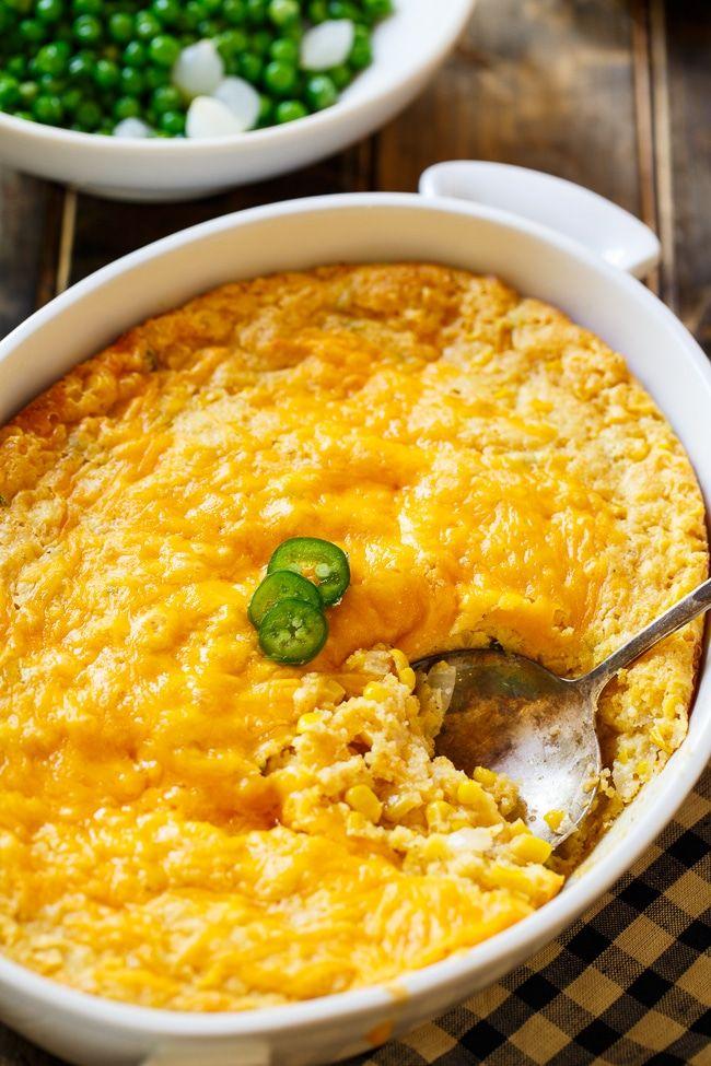 Cheesy Jalapeno Corn Casserole - Spicy Southern Kitchen