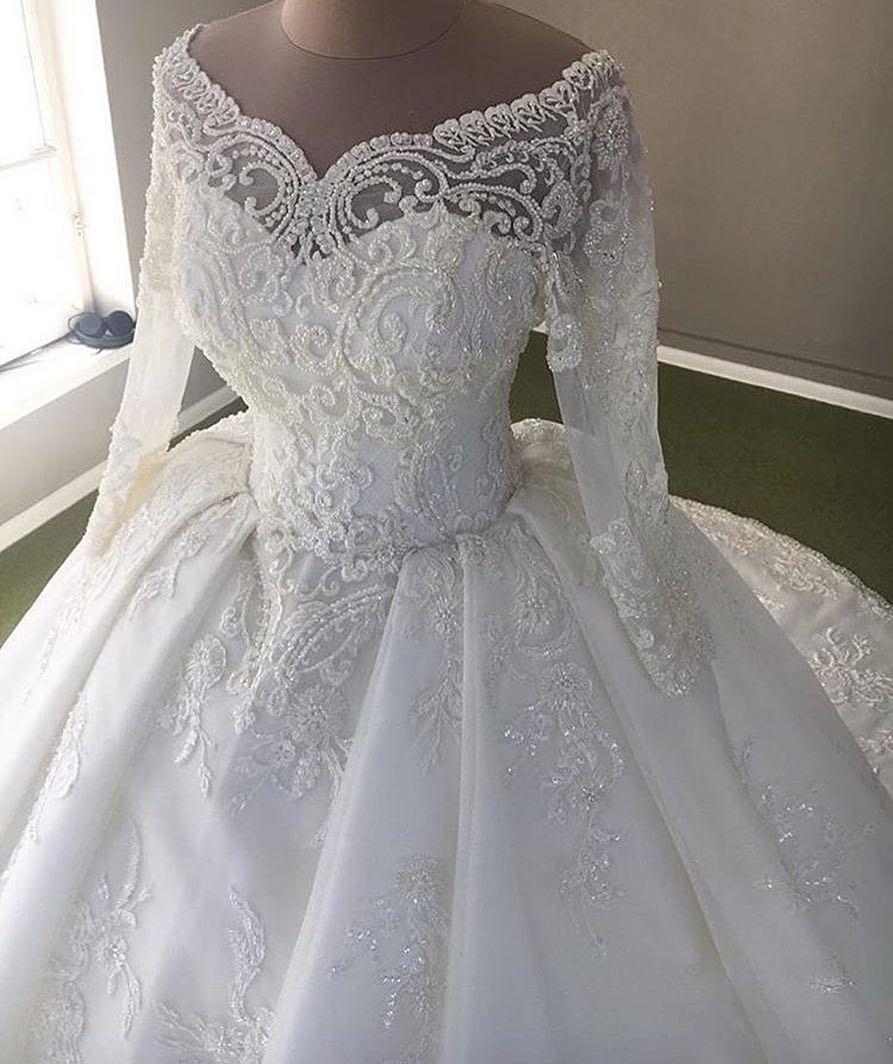 Custom Long Sleeve Wedding Gowns You Can Afford