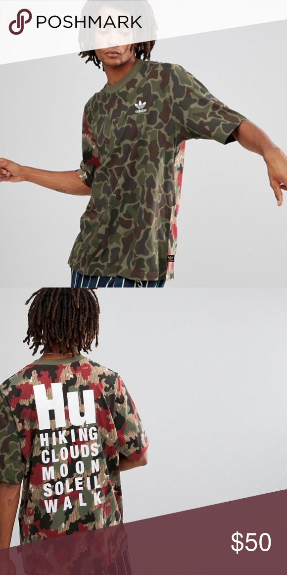 6c5440a47c9 adidas Originals Pharrell Hu Hiking Camo Tee Pop culture visionary Pharrell  Williams takes inspiration from L.A.