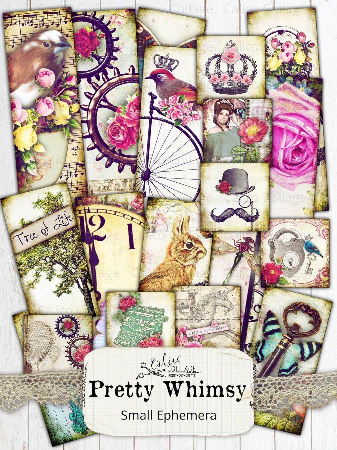 Journal Vintage Ephemera 13 Random ALCHEMY Cards Digital Collage Sheeet Download