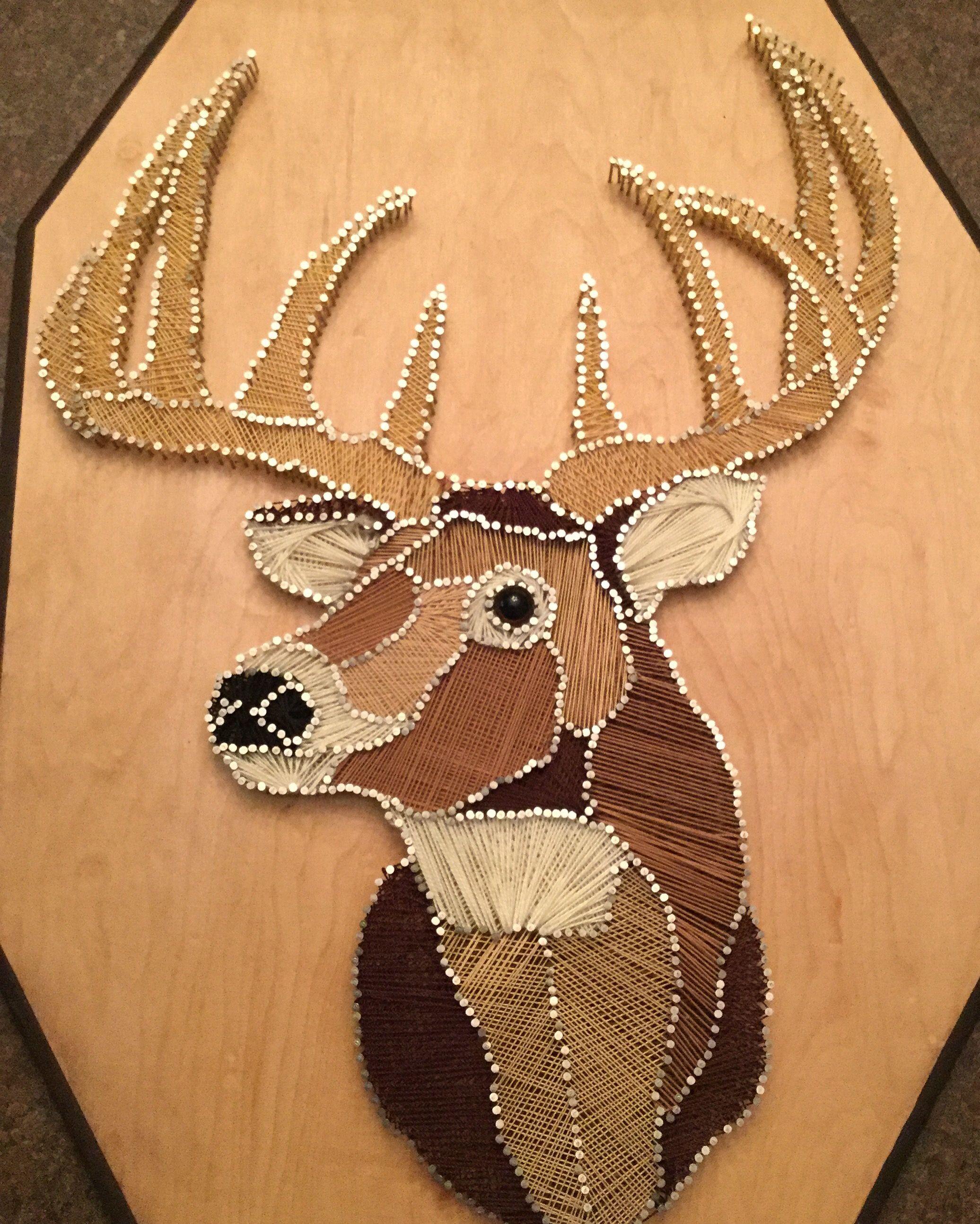 String art deer head original done by Ruth Ann Henrie ...