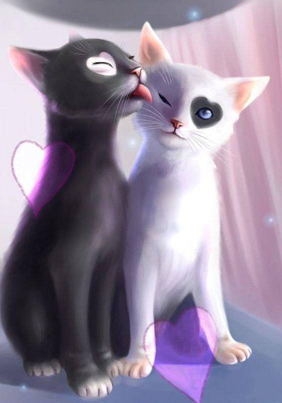 Cats Cross Stitch Pattern-Printable Black and White Cats Pattern-Funny Cats Pattern-Digital Cats Pri #cutecats