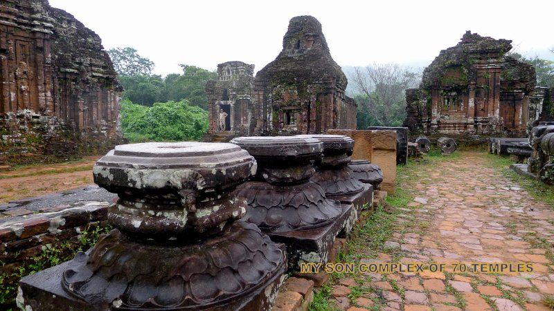 53 plus rulers of Champa dynasty ruled the middle Vietnam for 900 years and built elaborate temples from the 4th century in wood and from the 7th century in stone, until their weakening and subsequent destruction by the 14 th century when the Minh kingdoms of Vietnam grew more powerful.