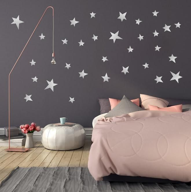 POM Star wall transfers in silver | jana ❤ | Wall stickers ...