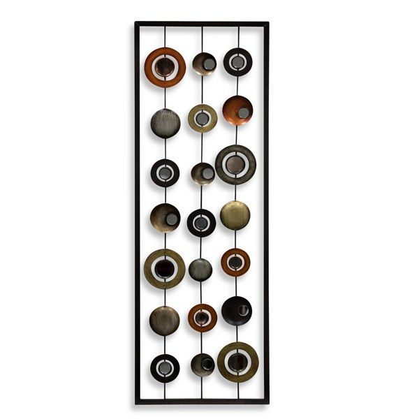 Metal Mirror Wall Decor Circle Panel Ii From Bed Bath Beyond This Would