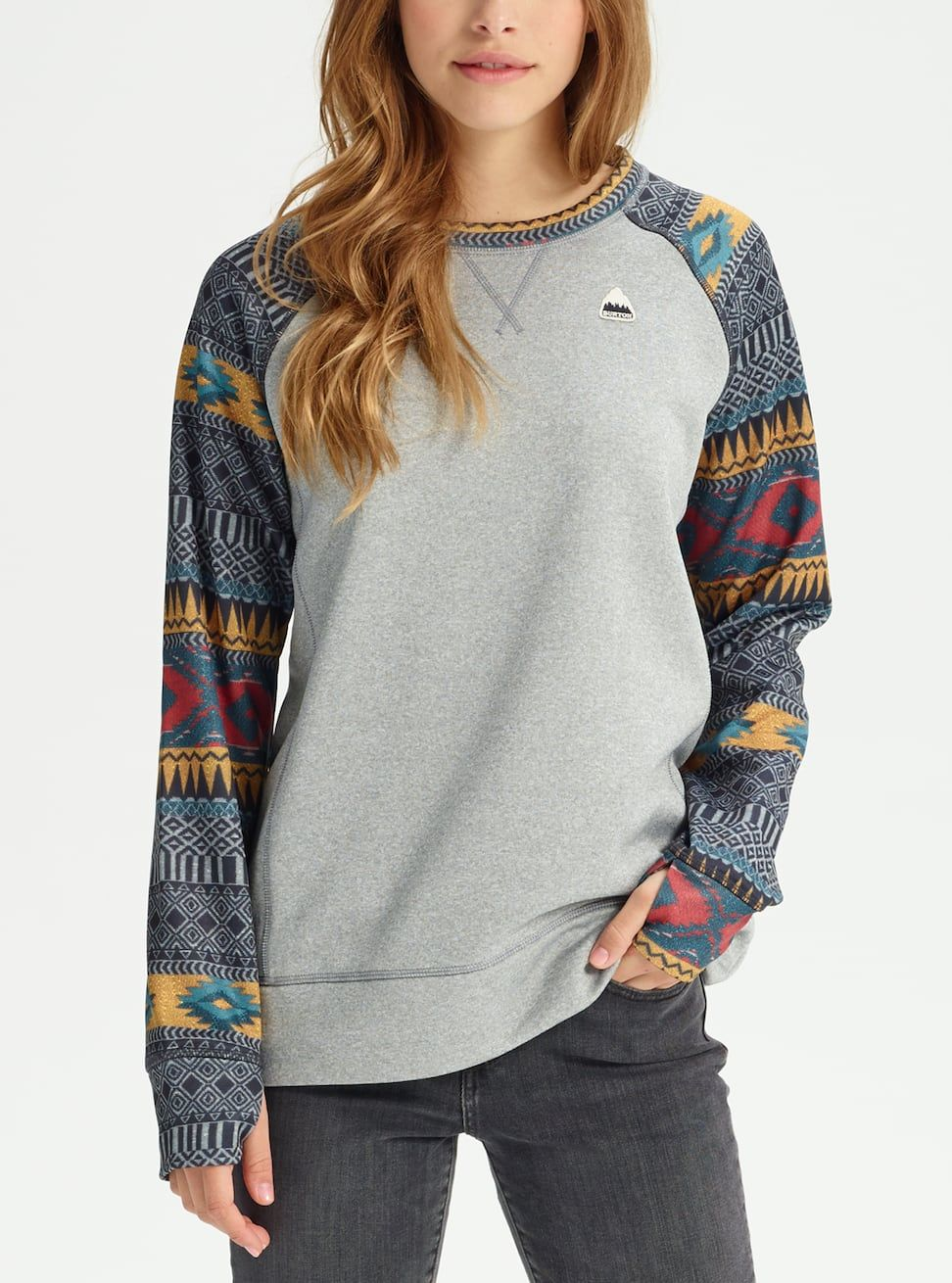 705c4a0c1dfb3 Shop the Women s Burton Oak Crew Sweatshirt along with more pullover and  full-zip hoodies