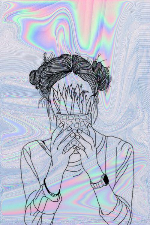 line drawing layered on photo Wallpaper Pinterest Wallpaper