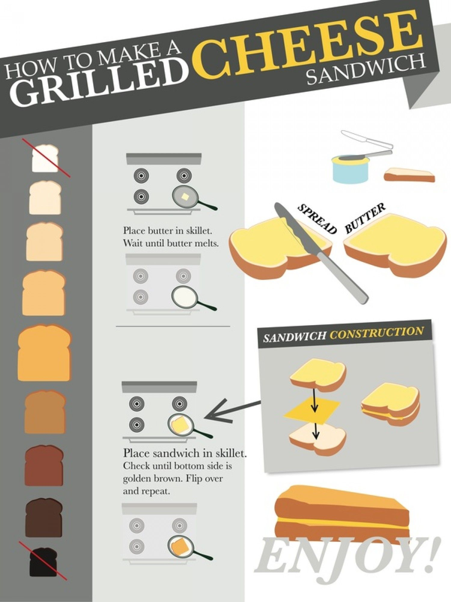 At home grilled cheese | Other Grilled Cheese | Pinterest ...
