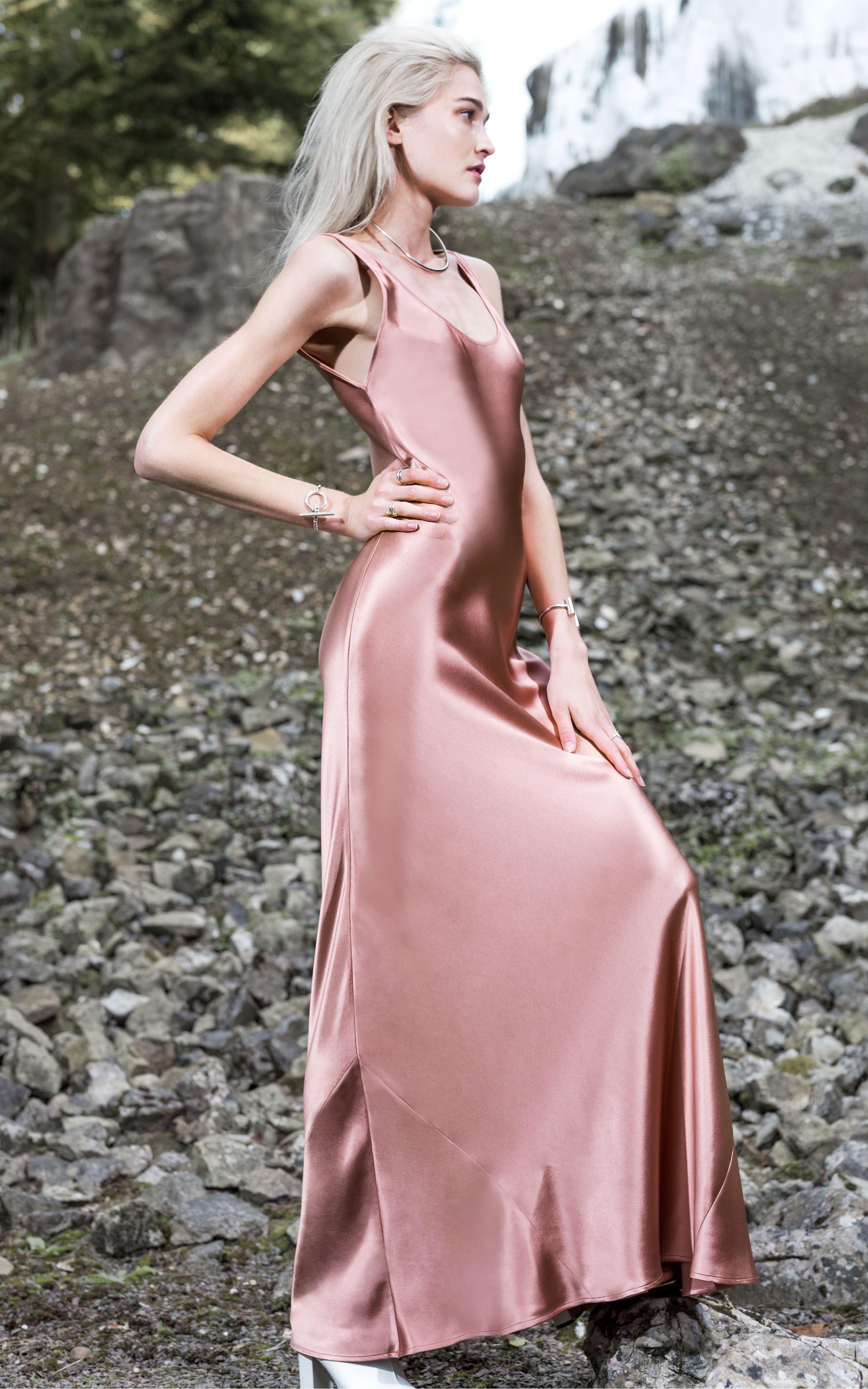 Silk satin bias-cut dress   Unknown   Pinterest   Pijama, Coser y ...